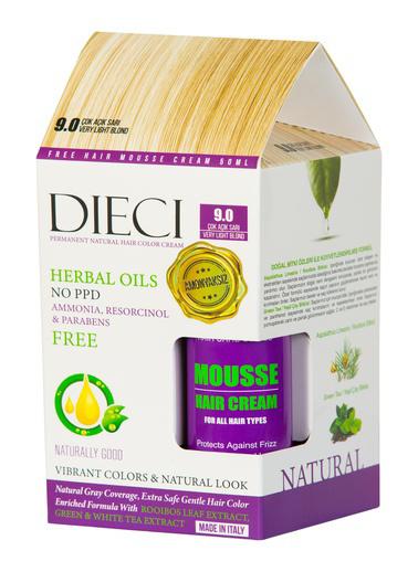Dıecı Dıecı Kit Amonyaksız Natural Saç Boyası 9.0 Çok Açık Sarı Sarı